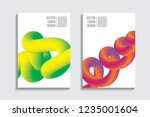 blended covers with gradient... | Shutterstock .eps vector #1235001604