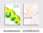 blended covers with gradient... | Shutterstock .eps vector #1235001631