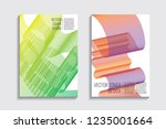 blended covers with gradient... | Shutterstock .eps vector #1235001664