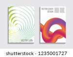 blended covers with gradient... | Shutterstock .eps vector #1235001727