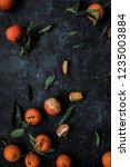 fresh tangerines or mandarin... | Shutterstock . vector #1235003884