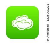 internet cloud icon green...