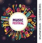 music festival. music... | Shutterstock .eps vector #1235008381