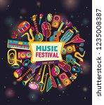 music festival. music... | Shutterstock .eps vector #1235008387