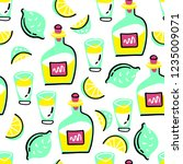seamless vector pattern with... | Shutterstock .eps vector #1235009071