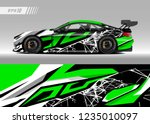 vehicle graphic livery design...   Shutterstock .eps vector #1235010097