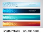 vector banners and headers for... | Shutterstock .eps vector #1235014801