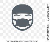 surgeon face icon. trendy flat...   Shutterstock .eps vector #1235016394
