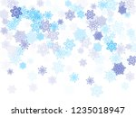 blue paper snowflakes flying... | Shutterstock .eps vector #1235018947