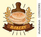 stock vector of fresh bakery...   Shutterstock .eps vector #1235023081