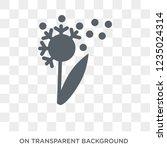 dandelion icon. trendy flat... | Shutterstock .eps vector #1235024314