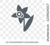 daffodil icon. trendy flat... | Shutterstock .eps vector #1235024317