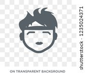 boy with headband icon. trendy... | Shutterstock .eps vector #1235024371