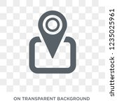 find location icon. trendy flat ... | Shutterstock .eps vector #1235025961