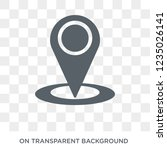 gps location icon. trendy flat... | Shutterstock .eps vector #1235026141