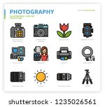 photography icon set | Shutterstock .eps vector #1235026561