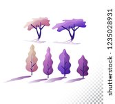 trees flat icons. stylized... | Shutterstock .eps vector #1235028931