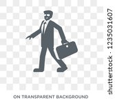 rich man icon. trendy flat... | Shutterstock .eps vector #1235031607