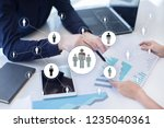 hr human resources management.... | Shutterstock . vector #1235040361
