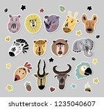 big vector sticker pack   set... | Shutterstock .eps vector #1235040607