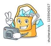 photographer mail bag character ... | Shutterstock .eps vector #1235042017