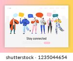 social network landing page... | Shutterstock .eps vector #1235044654