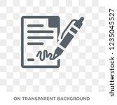 agreement icon. trendy flat...   Shutterstock .eps vector #1235045527