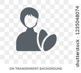 woman healthy treatment icon.... | Shutterstock .eps vector #1235048074