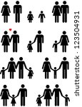 family icons of man  woman  boy ... | Shutterstock . vector #123504931