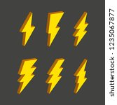 electric thunderbolt lighting... | Shutterstock .eps vector #1235067877