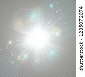 light flare special effect.... | Shutterstock .eps vector #1235072074