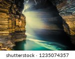 gupteshwor cave with lake in... | Shutterstock . vector #1235074357
