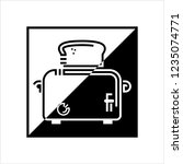 toaster icon  toaster vector... | Shutterstock .eps vector #1235074771