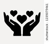 heart love and romance vector... | Shutterstock .eps vector #1235075461