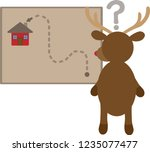 illustration of a confused... | Shutterstock .eps vector #1235077477
