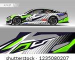 racing car wrap design vector.... | Shutterstock .eps vector #1235080207