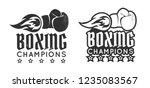 vector vintage logo for a... | Shutterstock .eps vector #1235083567