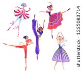 the ballerina girls. beautiful... | Shutterstock .eps vector #1235083714