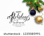 holidays greeting card for... | Shutterstock .eps vector #1235085991