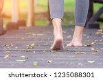 close up  of girl barefoot... | Shutterstock . vector #1235088301