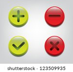 set of glossy ok and cancel... | Shutterstock .eps vector #123509935