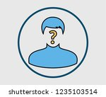 colorful identify icon. man... | Shutterstock .eps vector #1235103514
