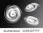 set of realistic tornados ... | Shutterstock .eps vector #1235107777
