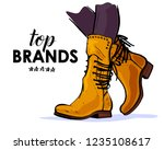 vector hand drawn trendy... | Shutterstock .eps vector #1235108617