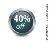 forty persent off vector button ...   Shutterstock .eps vector #1235110681