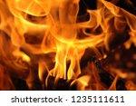 blaze fire flame texture... | Shutterstock . vector #1235111611