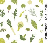 seamless pattern with green... | Shutterstock .eps vector #1235116981