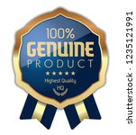 100  genuine product. vector... | Shutterstock .eps vector #1235121991