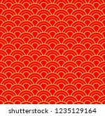chinese traditional new year... | Shutterstock .eps vector #1235129164