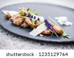 food plate restaurant elegant... | Shutterstock . vector #1235129764
